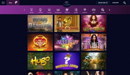 kampanjer og spill hos genesis casino