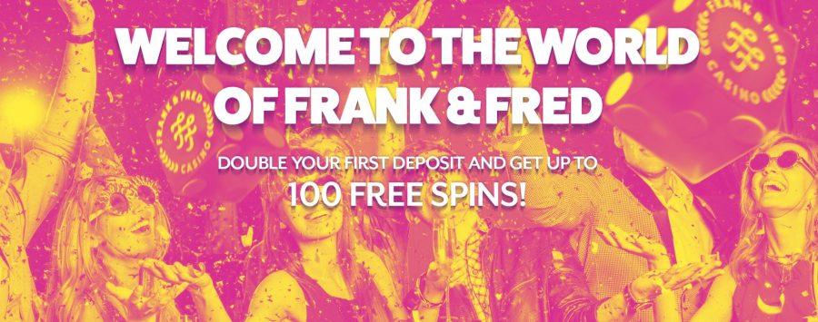 Frank & Fred Casino gir en fantastisk velkomstbonus