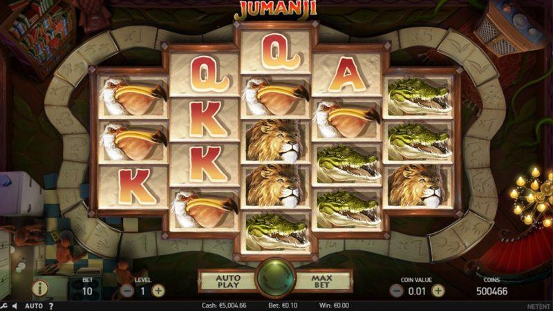 Jumanji spilleautomat Netent Screenshot