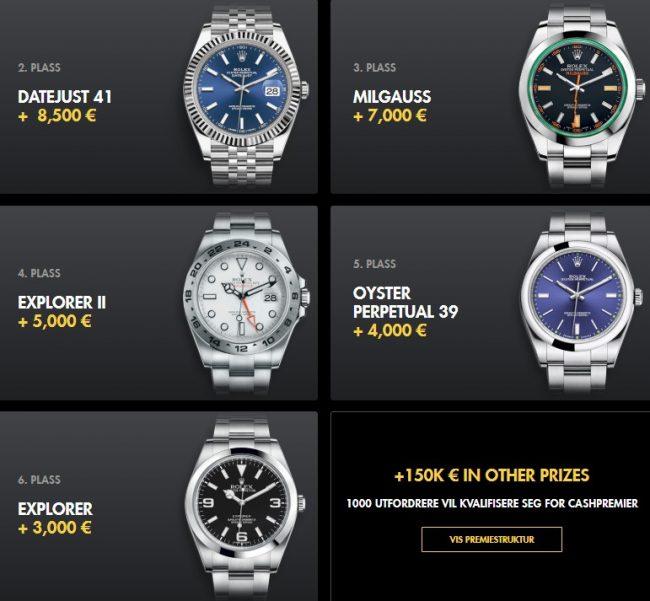 Zlatan Challenge VM - Vinn Rolex klokker