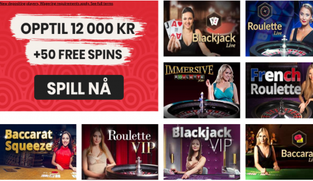 live casino og bordspill hos goliathcasino