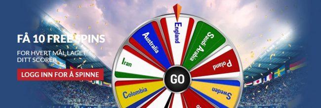 Få free spins og annet snacks under VM hos Guts