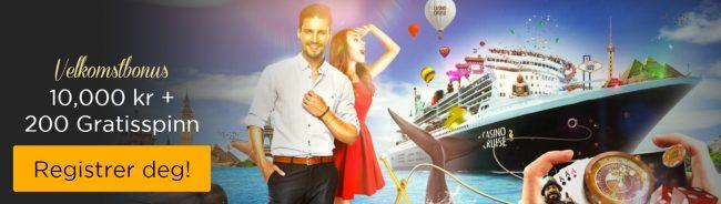velkomstbonus hos Casino Cruise