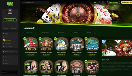 888casino byr på mye spenning og sjansen til å vinne stort