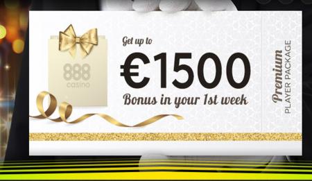 få casinobonus hos nettcasinoet 888 casino