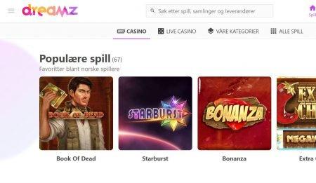 spillutvalg dreamz casino