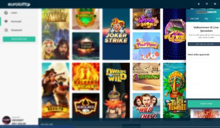 spill lotto og andre lotterier hos eurolotto casino