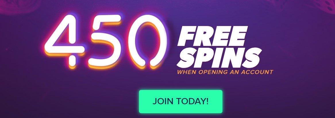 få 450 gratisspinn uten innskuddskrav hos igame casino