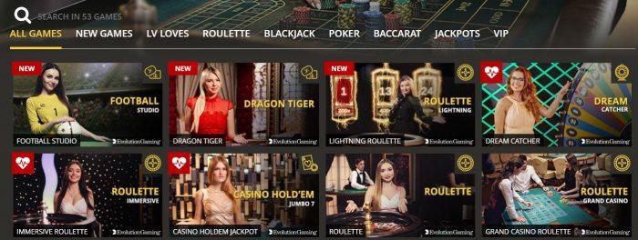 lvbet casino har stort live casino