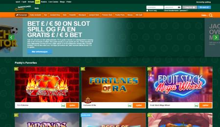 få bonus og tilbud hos paddypower casino