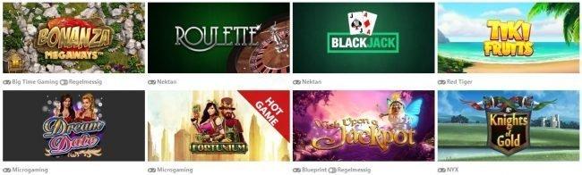 spillutvalg hos wild wins casino