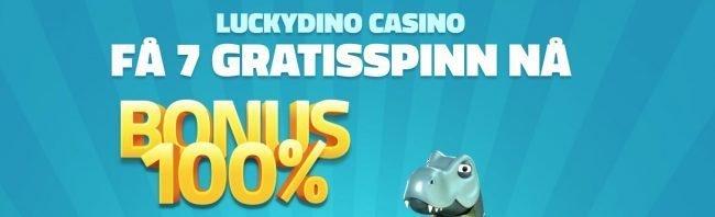velkomstbonus hos Lucky Dino Casino
