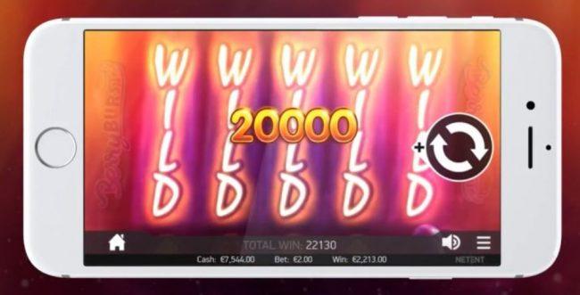 Spill Berryburst spilleautomat fra NetEnt på mobil og tablet