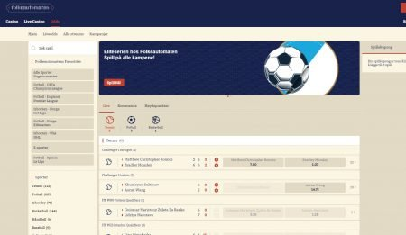 Folkeautomaten odds og live-betting