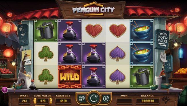 Penguin City spilleautomat fra Yggdrasil