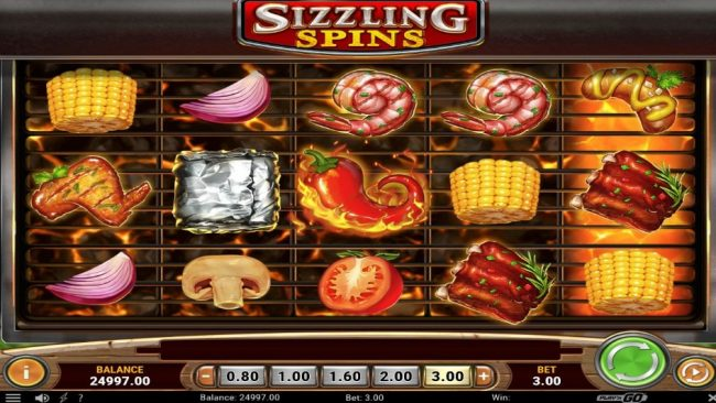 Sizzling Spins Play n Go Spilleautomat