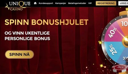 spinn bonushjul hos unique casino