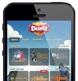 dueller mot andre spillere hos casinoet til duelz