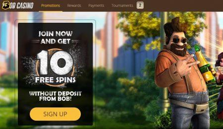 bonuser og kampanjer hos bob casino