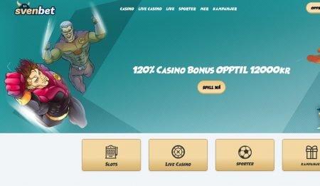 Svenbet casino lobby