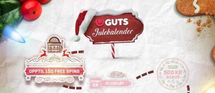 julekalender og andre advents kampanjer hos guts casino