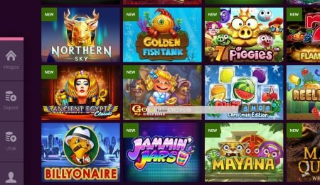 Malina Casino Skjermbilde av Spillutvalg