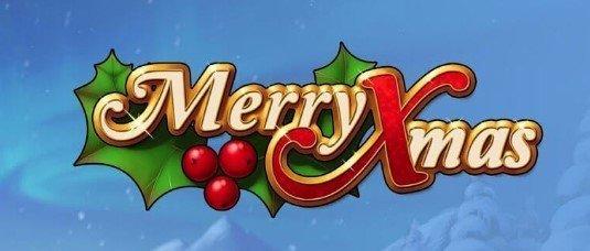 Merry Xmas spilleautomat med juletema