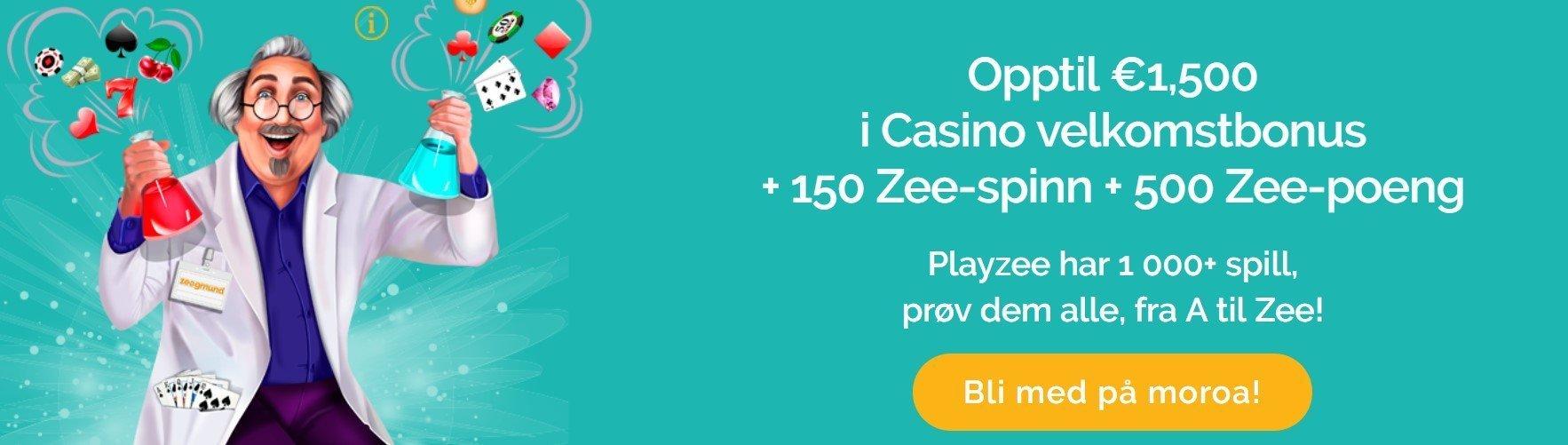 PlayZee Casino velkomstbonus