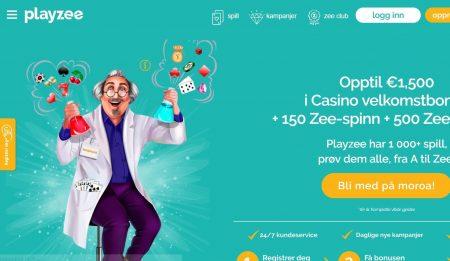 Skjermbilde Playzee Casino Lobby