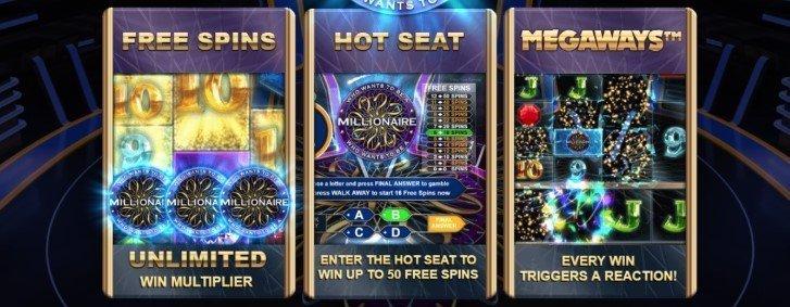 Who Wants to be a Millionaire Spilleautomat funksjoner
