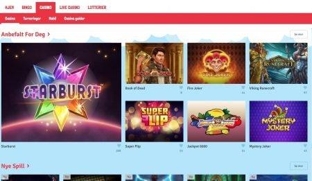 Casinospill og automater hos bingo.com