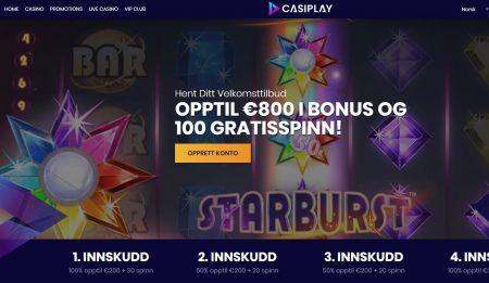 Casiplay Casino Lobby Skjermbilde
