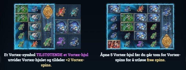Dark Vortex spesielle funksjoner