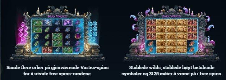 Freespins i Dark Vortex Yggdrasil Spilleautomat