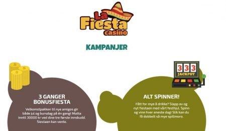 Kampanjer hos La Fiesta Casino