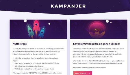 Kampanjer hos Slot Planet Casino