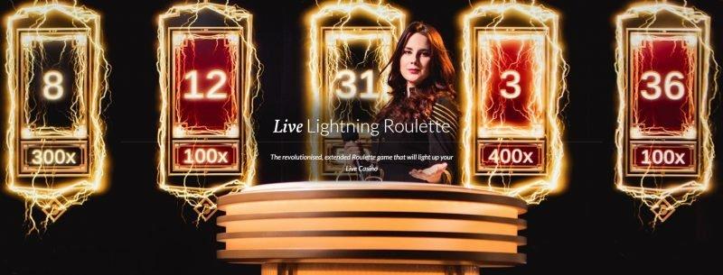 Lightning Roulette er et spennende Live Casino Spill