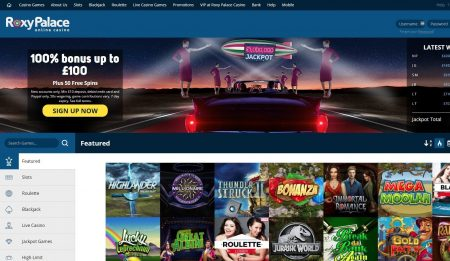 Skjermbilde av Roxy Palace Casino