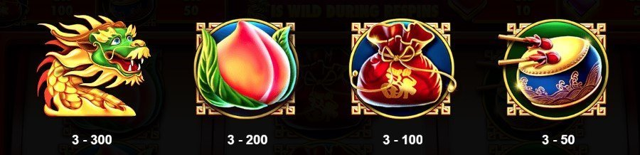 Symboler i Triple Dragon Slot