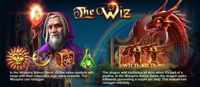 The Wiz er en spilleautomat utviklet av ELK Studios