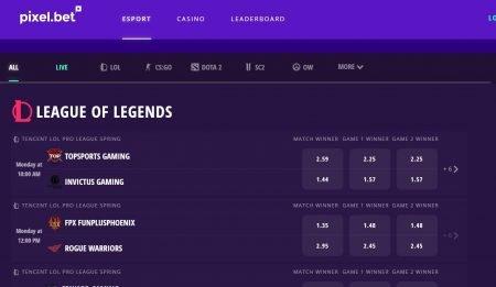e-sport tipping hos pixel.bet casino