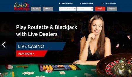Et skjermbilde av lobbyen til Casino RedKings