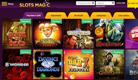 Slots magic Casino Spillutvalg