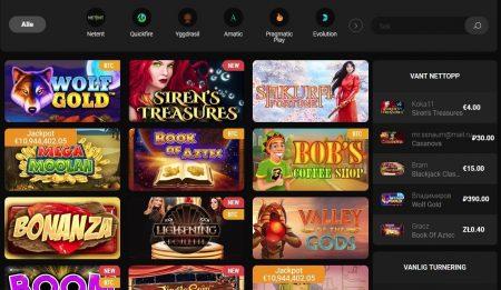 spilleautomater og casinospill hos Betchan Casino