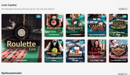 live casino hos luckydays casino