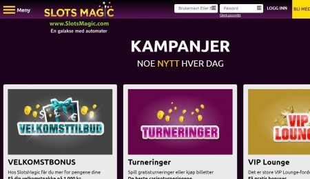 nye kampanjer hver dag hos slots magic casino