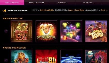 spill med bonus hos lucky niki casino