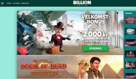 billion casino skjermbilde