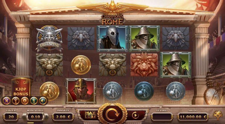 Champions of Rome casinotopplisten