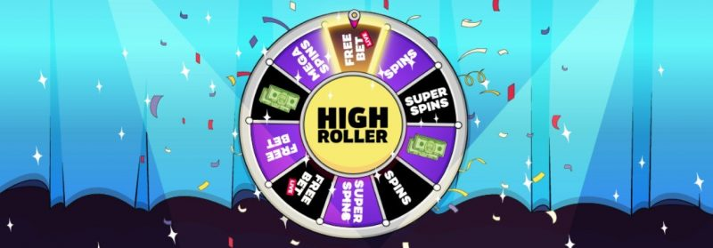 highroller wheel hos casino